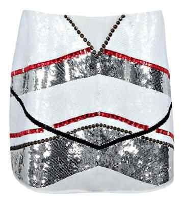 Embellished panel mini skirt