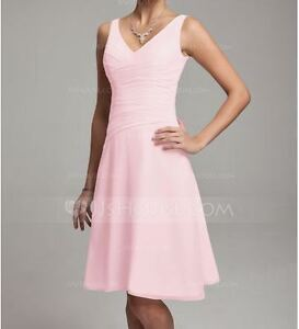 Two - Chiffon Knee-length Dress with V-Neck