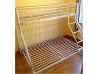 Bunk Bed - Triple Bunk - A Double Bed and a Single Bed - Kids Bed - Metal Frame - as new - Bedroom