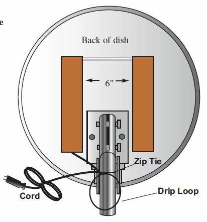 Ice Zapper 2 Satellite Dish Heater Kit - Always On