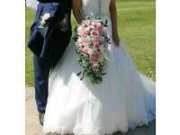 Wedding Flowers Bride teardrop and X2 bridesmaid bouquets