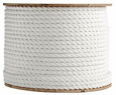 "ANCHOR ROPE DOCK LINE 2"" X 600' 3 STRAND TWISTED 100% NYLON WHITE MADE IN USA"