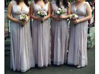 Rose pink bridesmaids dresses