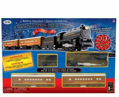 EzTec North Pole Express Christmas Train Set Battery Operated Classic Toy