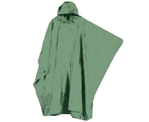 WATERPROOF-OLIVE-LIGHTWEIGHT-HOODY-PONCHO-Camping-Hiking-Fishing-Outdoor-jacket