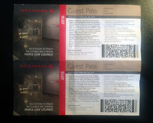 Two Air Canada Maple Leaf Lounge Passes - 15$ each
