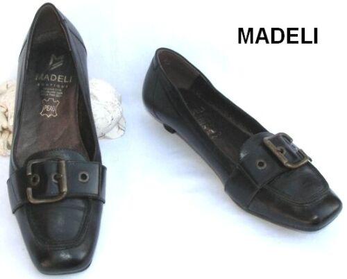 MADELI - SHOE SMALL HEELS BLACK LEATHER 37 - MINT