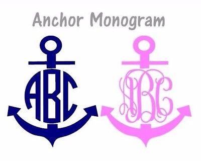 Throw Home Decor Anchor Split Monogram 3