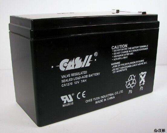 Casil AUTHENTIC CA1270 12V 7AH ALARM BATTERY ADT BRINKS