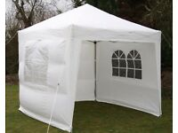 2.5m x 2.5m Waterproof Pop Up Gazebo - White
