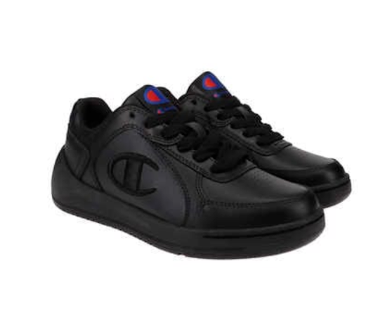 NEW Champion Womens Classic Leather +Synth Black Tennis Gym