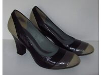 Kenneth Cole Reaction Size 4.5 Leather Heels (only worn once)
