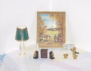 Lot of Eight  Petite Princess Vintage Dollhouse Accessory Items