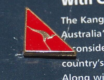 Anstecknadel Qantas Airways Airline Motiv Känguru Abzeichen Fluggesellschaft