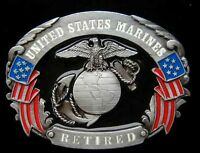 UNITED STATES MARINE CORPS RETIRED BELT BUCKLE BY SISKIYOU