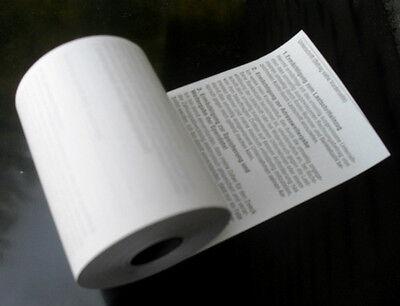 50 EC Cash Thermo Rollen 57mm breit - 25m lang mit SEPA Lastschifttext