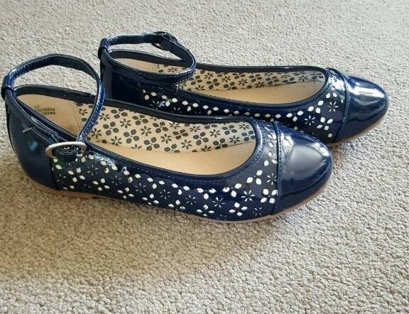 Girls navy shoes size 12