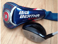 Callaway Big Bertha Alpha Driver - 9 Degree - Stiff Shaft - Headcover & NEW Grip