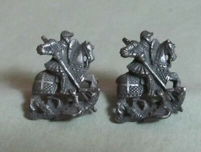 Mens Vintage CENTURIAN KNIGHT JOUSTER CUFFLINKS on HORSE Costume Jewelry H65](Knight On Horse Costume)