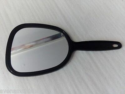Handspiegel Spiegel mit Handgriff ca. 27cm Schwarz mit Aufhängung