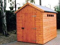 Security Apex Tongue & Groove Garden Shed All Sizes From £440 Inc Delivery & Erection 0161 962 9127