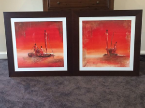 FRAMED PRINTS BY THE ARTIST MARSO (A SET) Pagewood Botany Bay Area Preview