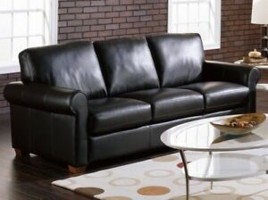 Perfect Condition Real Leather Couch / Sofa