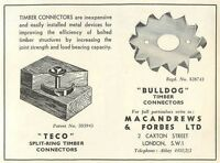 1953 Macandrews Forbes Caxton St Timber Connectors Ad - forbes - ebay.co.uk