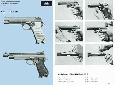 SIG Pistols P210 Catalog and Manual