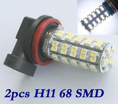 2 H8 H11 68 LED SMD Auto NebelScheinwerfer Lampe Birne