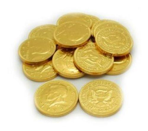 Gold Foil Chocolate Coins 1-Inch - 5lb – CandyDirect