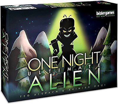 One Night Ultimate Alien Family Party Game Bezier Games BEZONUA Mafia Halloween - Halloween Board Games