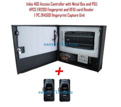 Diy Zksoftware 4 Door Inbio460 Ip Based Access Control Panel Security System Kit