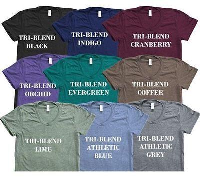 American Apparel Tri Blend T-Shirt Vintage Style Track Tee Shirt 9 Colors - American Apparel Tri Blend