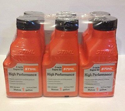 STIHL MIXING OIL 1 GALLON HP 2-CYCLE ENGINE OIL 6 PACK Hewlett Packard Oil
