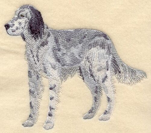 Large Embroidered Zippered Tote - English Setter C5206