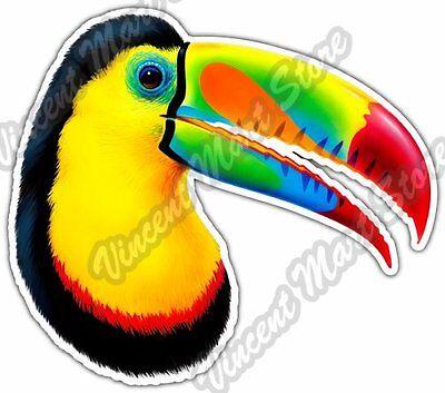 "Toucan Tropical Bird Wildlife Jungle Animal Car Bumper Vinyl Sticker Decal 4.6"""