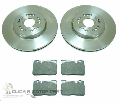 LEXUS LS400 4.0 1995-2000 FRONT 2 BRAKE DISCS AND PADS SET NEW