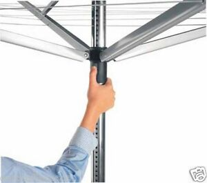 Brabantia Large Rotary Airer Washing Line + Metal Soil Spear 60m, Pack Damaged