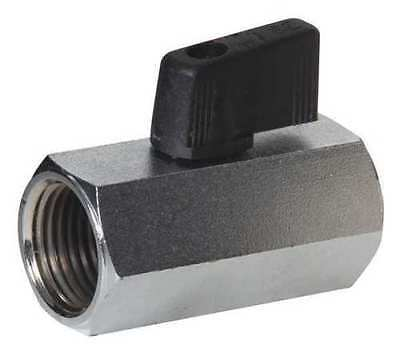 Nickle Plated Air Compressor Pneumatic Mini In Line Shut Off Ball Valve 18 Npt