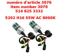 H16 5202 55W AC 8000K SUPER BRIGHT Car Xenon HID Bulbs