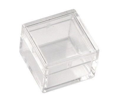 """1 Pack of 50 Clear 1"""" x1"""" Plastic Boxes Gems Stones Beads Storage Display"""