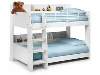 Julian Brown Happy Beds Domino 3ft Kids Solid Bunkbed White