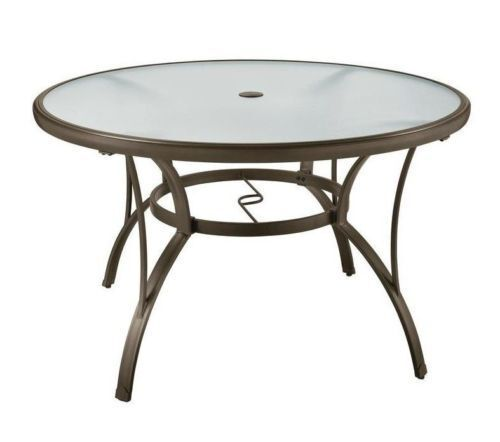 "Garden Furniture - Round Table Patio Dining 48"" Set Glass Outdoor Deck Garden Furniture Pool Yard"