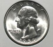 Silver Washington Quarters 1953