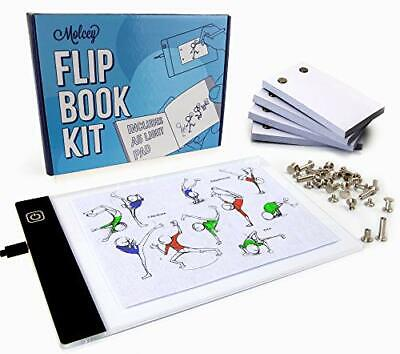 LED Lightbox for Drawing and Tracing & 240 Sheet Animation Paper A5 Flipbook Kit