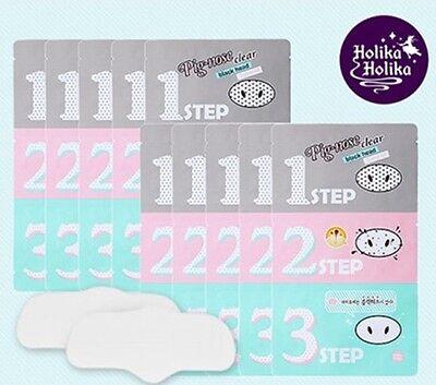 [Holika Holika]Pig Nose Clear Remove BlackHead 3 Step Kit Pack x 10ea Pore Korea