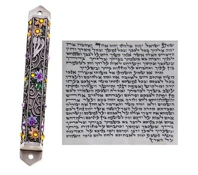 Metal Mezuzah With NON Kosher Scroll Mezuza Case Jewish Hebrew Judaica