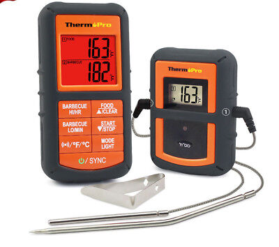ThermoPro Remote Wireless Digital meat oven bbq smoker thermometer dual probes