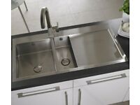 Astracast Vantage 1.5 Bowl RHD Kitchen Sink Brushed Steel Slight Damage